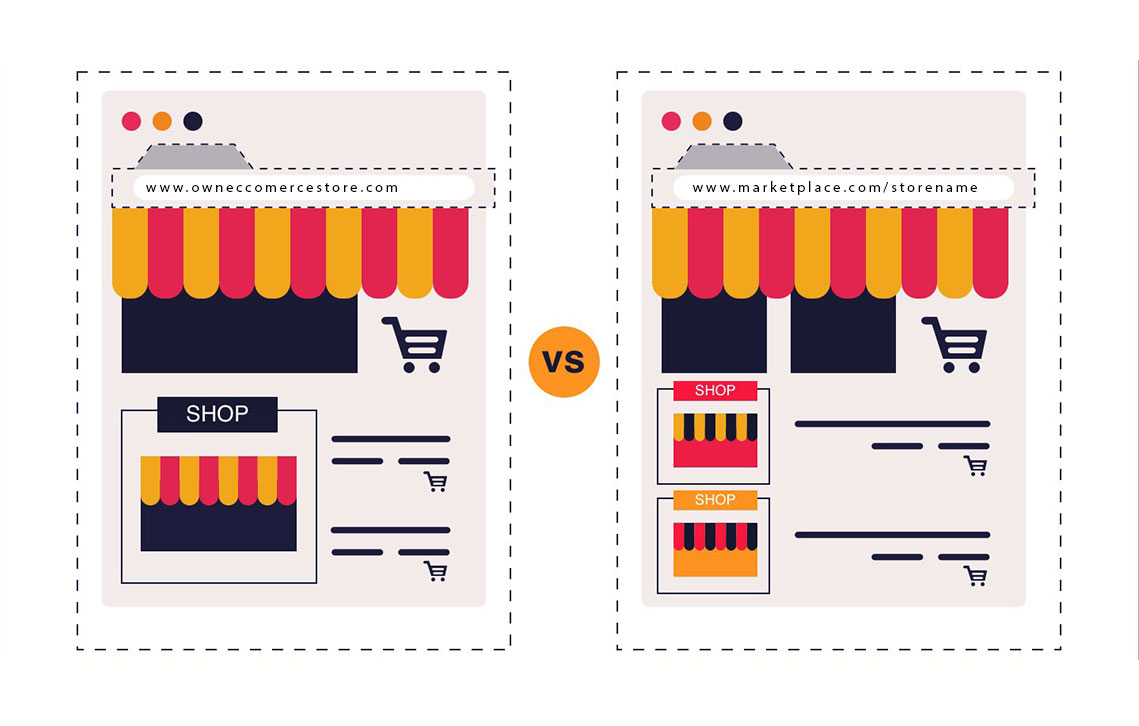 Marketplace vs Online Shop