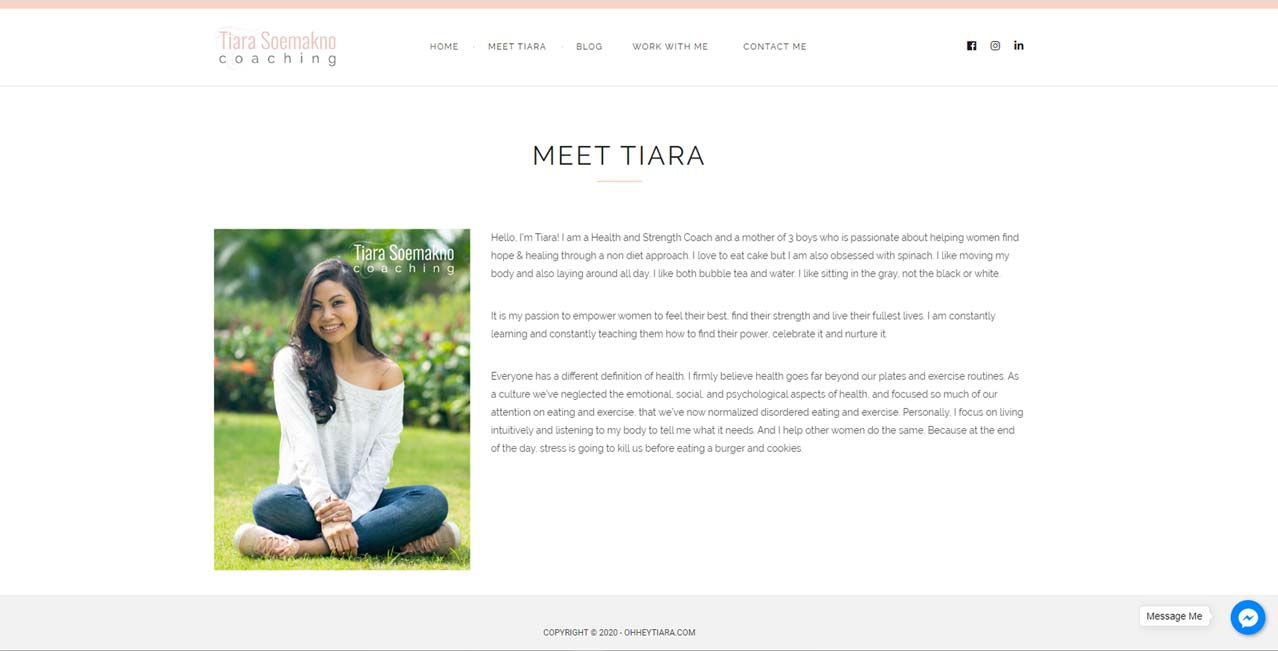 Health And Strength Coach Website Ohheytiara Com Portfolio Web Design Graphic Design Bandung Desain Kreasi