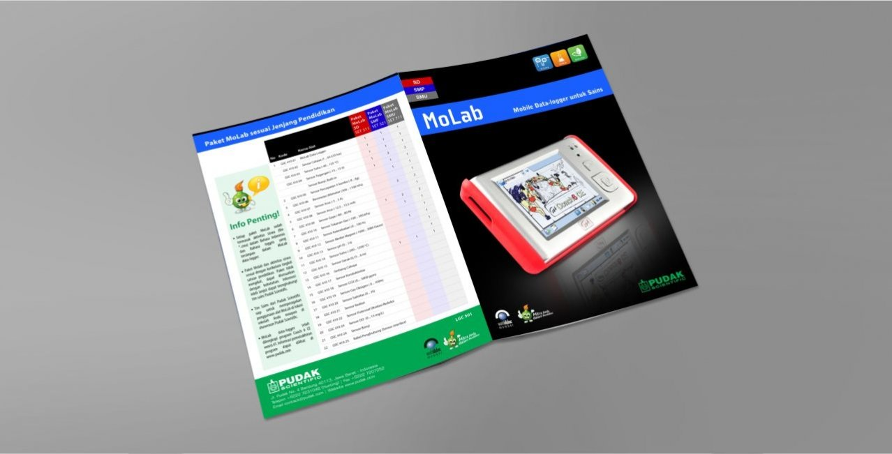 Desain Brosur Molab Science Pudak Scientific - Cover + Isi